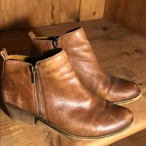 Lucky Booties brown leather size 39/9